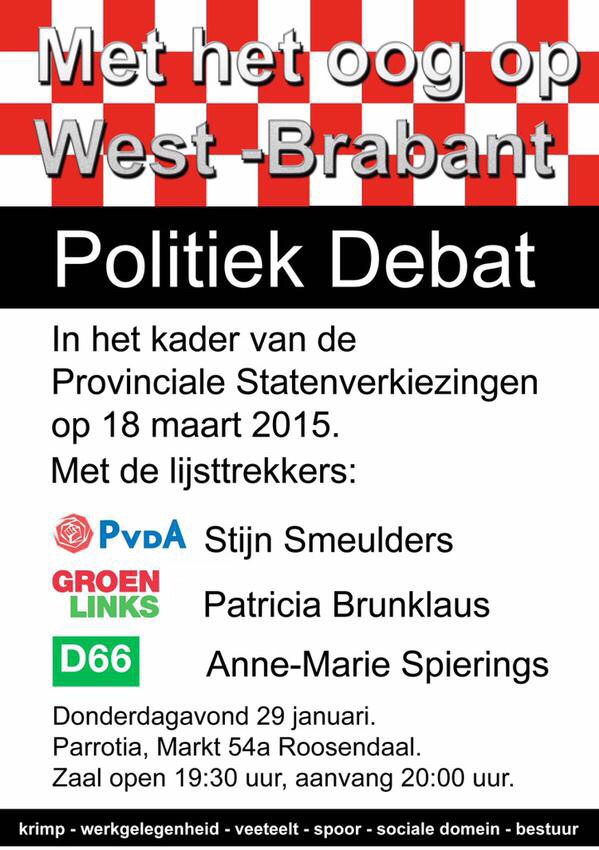politiek lijsttrekkersdebat